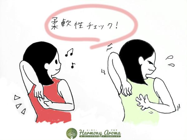 肩コリにおすすめ柔軟性チェック方法